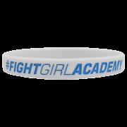 "WRISTBAND WHITE ""FIGHT GIRL ACADEMY"""