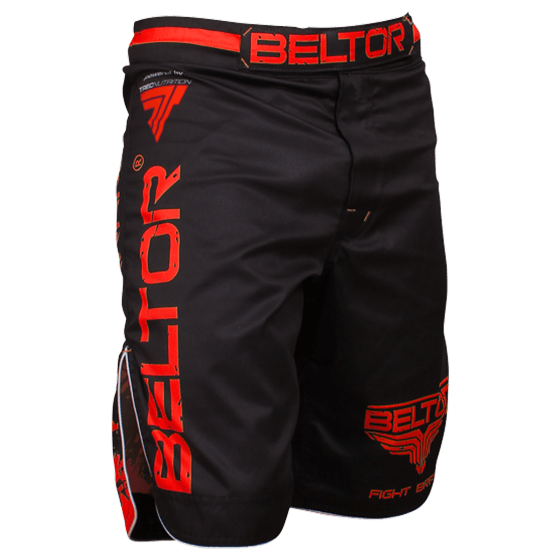 BELTOR - SPODENKI FIGHT SHORTS - RED PUNCH