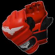 BELTOR - RĘKAWICE MMA PRIDE RED/BLACK
