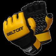 BELTOR - RĘKAWICE MMA ONE YELLOW/BLACK