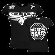 BELTOR - T-SHIRT GIRL - OCTAGON - BLACK