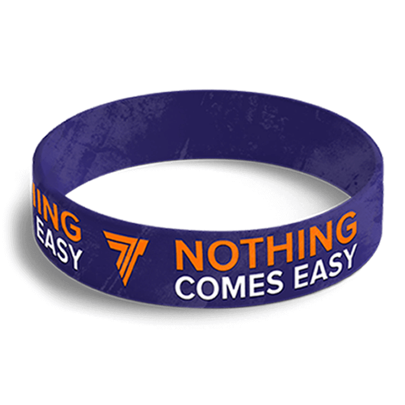WRISTBAND 058 - NOTHING COMES EASY - NAVY-BLUE