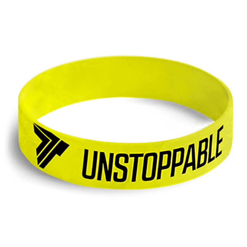 WRISTBAND 061 - UNSTOPPABLE - NEON-GREEN