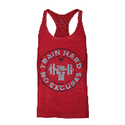 STRINGER 05 - TRAIN HARD - MAROON MELANGE