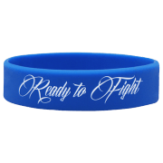 """WRISTBAND BLUE """"READY TO FIGHT"""""""