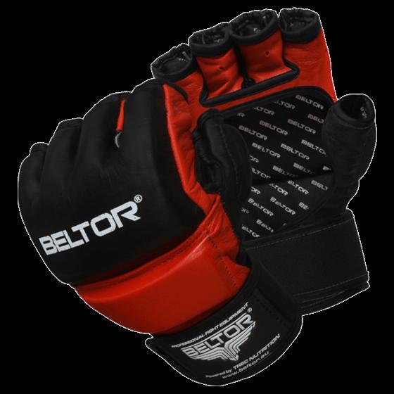 BELTOR - RĘKAWICE MMA ONE BLACK/RED