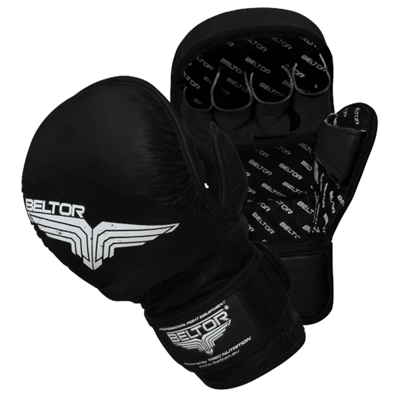 BELTOR - RĘKAWICE MMA TRAINING BLACK