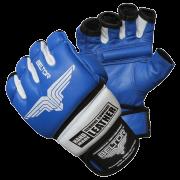 BELTOR - RĘKAWICE MMA COMBAT  BLUE/WHITE