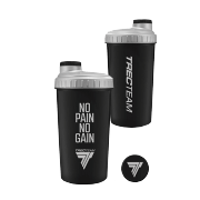SHAKER 025 - 0,7 L - BLACK - NO PAIN NO GAIN