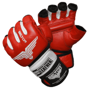 BELTOR - RĘKAWICE MMA COMBAT RED/WHITE