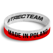 WRISTBAND 052 - MADE IN POLAND - WHITE-RED
