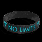 WRISTBAND 063 - NO LIMITS - BLACK