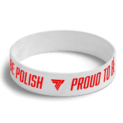 WRISTBAND 066 - PROUD TO BE POLISH - WHITE