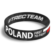 WRISTBAND 067 - POLAND FIRST TO FIGHT - BLACK