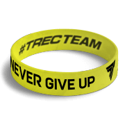 WRISTBAND 074 - NEVER GIVE UP