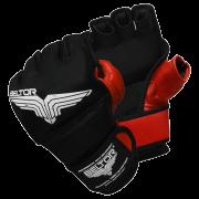 BELTOR - RĘKAWICE MMA PRIDE BLACK/RED