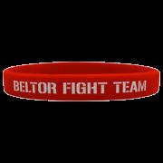 "WRISTBAND RED ""BELTOR FIGHT TEAM"""