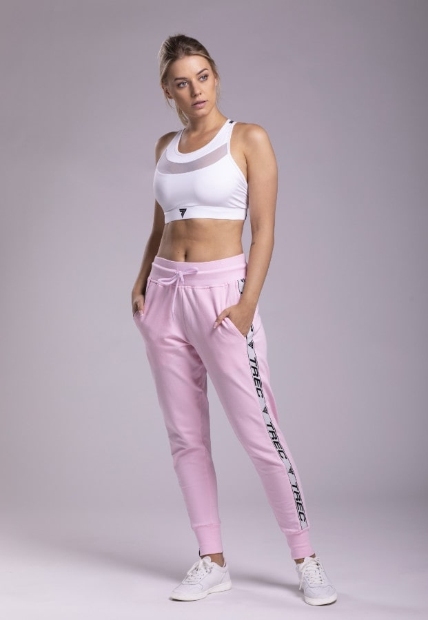 None PANTS TRECGIRL 004 JOGGER STRIPE PINK Glowne