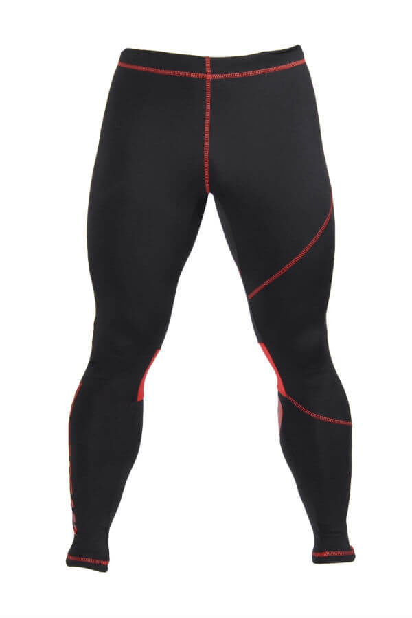 None PRO PANTS 003 - BLACK/RED Glowne