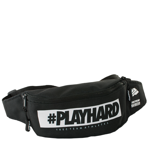 SPORT BUMBAG 011 - #PLAYHARD - BLACK Glowne