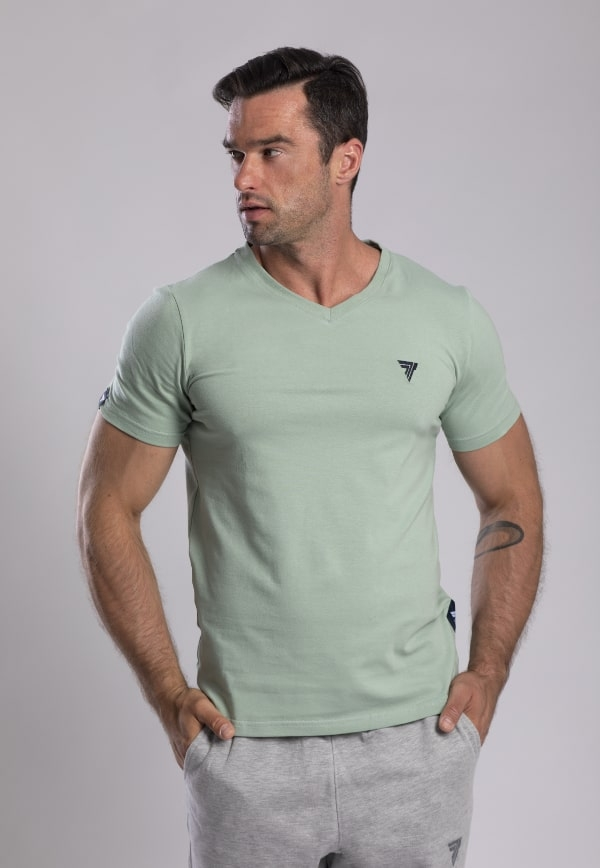 None T-SHIRT V-NECK TREC 05 MINT Glowne