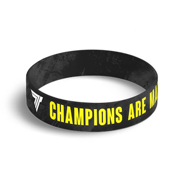 WRISTBAND 039 CHAMPIONS ARE MADE NOT BORN Glowne