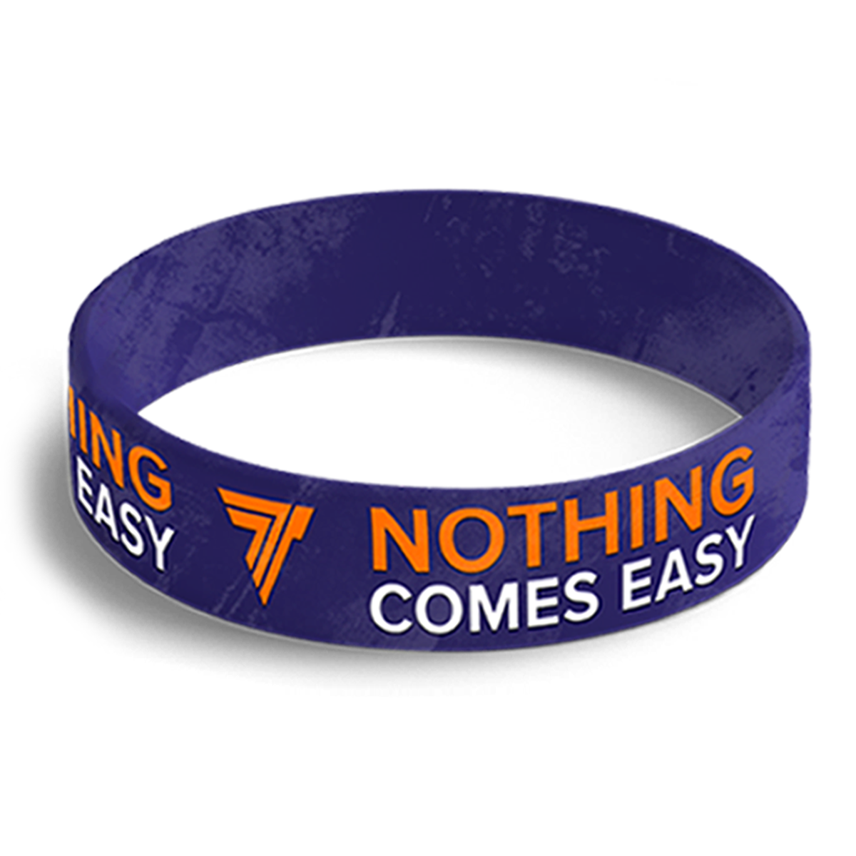 WRISTBAND 058 - NOTHING COMES EASY - NAVY-BLUE Glowne